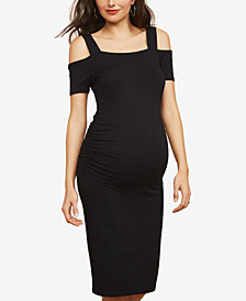 Motherhood Maternity Cold-Shoulder Sheath Dress