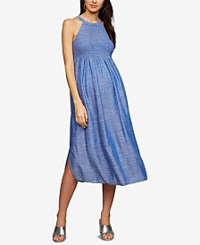 A Pea In The Pod Maternity Chambray Babydoll Dress