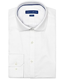 Men's Slim-Fit Comfort Stretch White Dobby Dress Shirt