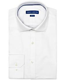 Vince Camuto Men's Slim-Fit Comfort Stretch White Dobby Dress Shirt