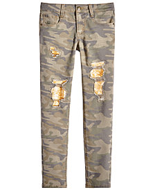 Imperial Star Big Girls Camouflage Reversible-Sequin Jeans