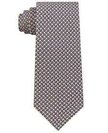 Club Room Men's Mini Pine Print Silk Tie, Created for Macy's