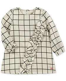 Calvin Klein Toddler Girls Ruffle-Trim Flannel Plaid Dress