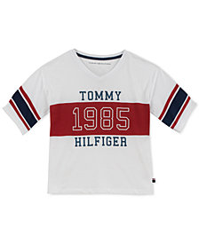 Tommy Hilfiger Big Girls Cotton Athletic T-Shirt