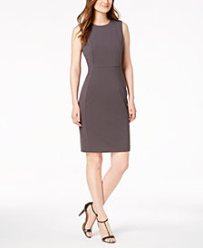 Calvin Klein Petite Scuba Crepe Sheath Dress