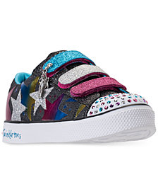 Skechers Little Girls' Twinkle Toes: Shuffles - Styling Stars Light-Up Casual Sneakers from Finish Line