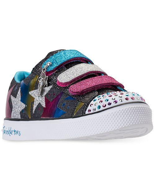 860f7f4bf578 ... Skechers Little Girls  Twinkle Toes  Shuffles - Styling Stars Light-Up  Casual Sneakers ...
