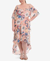 454acc374d6 NY Collection Plus Size Off-The-Shoulder Maxi Dress