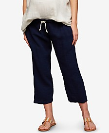 A Pea In The Pod Maternity Cotton Drawstring Pants