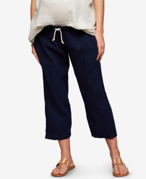 Image of A Pea In The Pod Maternity Cotton Drawstring Pants