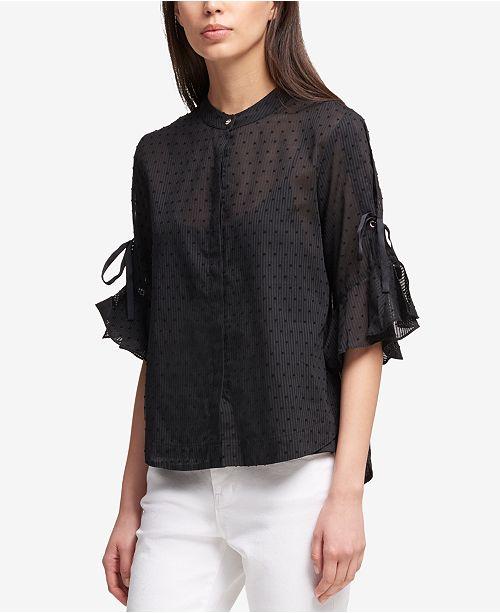 16c57897b431ef ... DKNY Ruffled-Sleeve Blouse