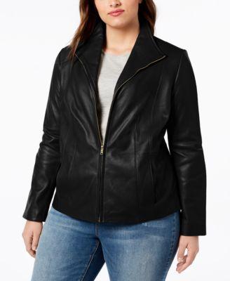 Signature Plus Size Leather Jacket