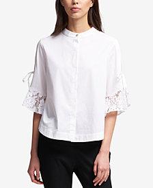 DKNY Ruffled-Sleeve Blouse, Created for Macy's