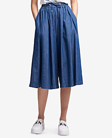 DKNY Cotton Drawstring Skirt Pants, Created for Macy's