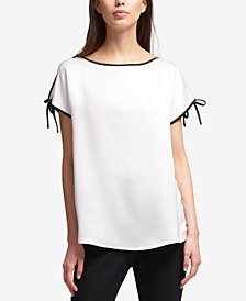 DKNY Contrast-Trim Top, Created for Macy's