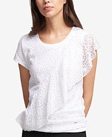 DKNY Ruffled Top, Created for Macy's