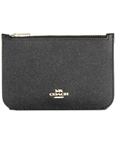 1a7a5b0ebbb0c5 COACH Zip Card Case in Crossgrain Leather