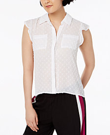 Bar III Clip-Dot Blouse, Created for Macy's