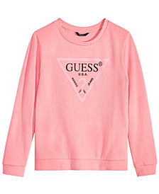 GUESS Logo-Graphic Cotton Sweatshirt, Big Girls (7-16)