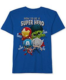 Marvel Toddler Boys Hero-Print Cotton T-Shirt