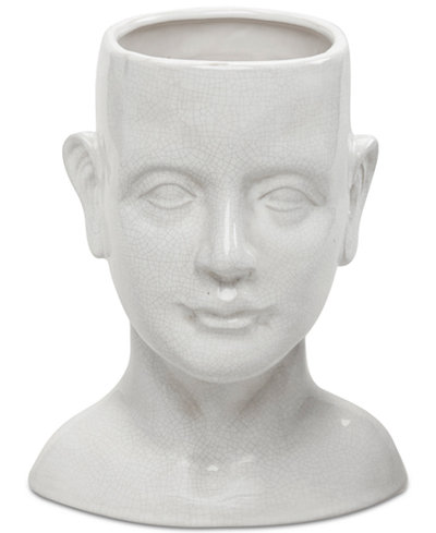 Madison Park Facade Human Shaped Ceramic Vase Bowls Vases