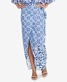 RACHEL Rachel Roy Printed Wrap Skirt, Created for Macy's