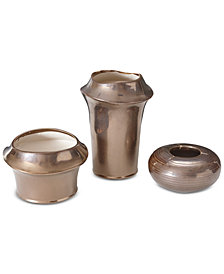 Madison Park Bowery 3-Pc. Ceramic Vase Set