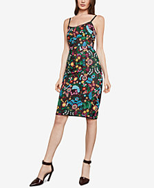 BCBGMAXAZRIA Floral Embroidered Bustier Dress