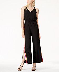 Bar III Varsity-Stripe Jumpsuit, Created for Macy's