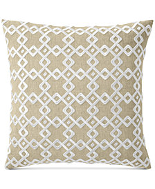 """Hotel Collection Embroidered 22"""" Square Decorative Pillow, Created for Macy's"""