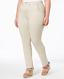 Celebrity Pink Trendy Plus Size Smart Trouser Jeans