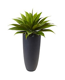 """38"""" Agave Artificial Plant in Gray Cylinder Planter"""