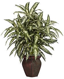 Nearly Natural Aglaonema Artificial Plant in Decorative Vase