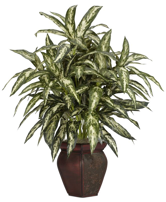 Nearly Natural Aglaonema Artificial Plant in Decorative Vase