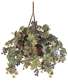 Grape Leaf Artificial Plant Hanging Basket