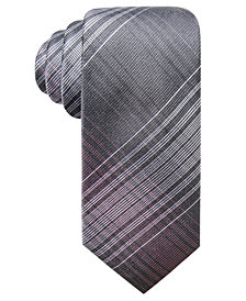 Ryan Seacrest Distinction™ Men's Ionic Plaid Slim Silk Tie, Created for Macy's