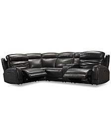 Incredible Furniture Winterton 6 Pc Leather Sectional Sofa With 3 Gmtry Best Dining Table And Chair Ideas Images Gmtryco