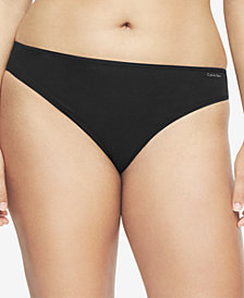 Calvin Klein Plus Size Form Stretch Thong QD3709, First at Macy's