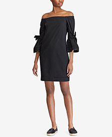 Lauren Ralph Lauren Off-The-Shoulder Shift Dress