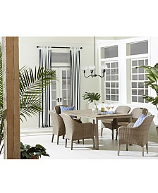 CLOSEOUT! Silver Lake Indoor/Outdoor 7-Pc. (1 Table & 6 Dining Chairs) Dining Set, with Sunbrella® Cushions, Created for Macy's