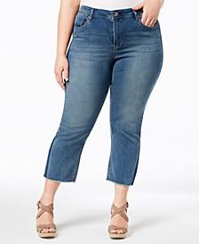 Seven7 Trendy Plus Size Kick-Flare Jeans