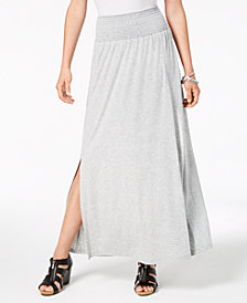 Style & Co Smocked-Comfort-Waist Maxi Skirt, Created for Macy's
