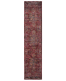 "Macy's Fine Rug Gallery Journey Charlemagne Red 2' 6"" x 12' Runner"