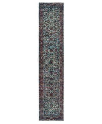 "Journey Pena Blue 2' 6"" x 12' Runner"