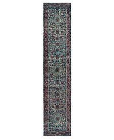 "Macy's Fine Rug Gallery Journey Pena Blue 2' 6"" x 12' Runner"