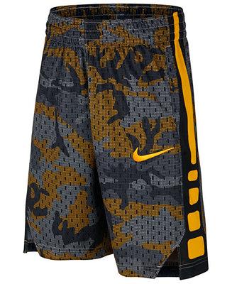 low priced 2bd33 ce0e9 Nike Big Boys Elite Printed Basketball Shorts   Reviews - Shorts - Kids -  Macy s
