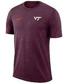 Nike Men's Virginia Tech Hokies Dri-Fit Coaches T-Shirt