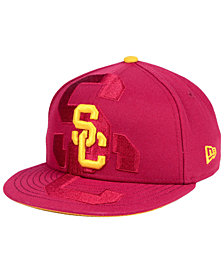 New Era Boys' USC Trojans Logo Spill 9FIFTY Snapback Cap