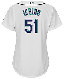 Majestic Women's Ichiro Suzuki Seattle Mariners Cool Base Player Replica Jersey