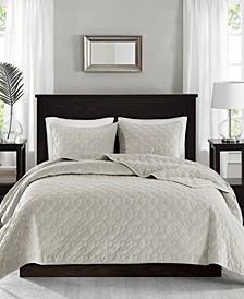 Harper Velvet 3-Piece Full/Queen Quilted Coverlet Set